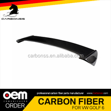 Carbon Trunk Boot Lip Spoiler For VW Golf 6 GTI SPOILER 2009-2013