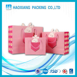Custom logo handle promotion Kraft paper bag folding shopping bag cheap shopping bags