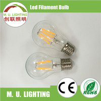 Lampadine filamento led A19/A60 Filament bulb light 660ML E27 6W LED Bulb new products A19 6w with CE certificated