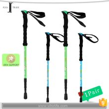 JUJIA-622330 retractable trekking pole hiking poles fiberglass walking stick