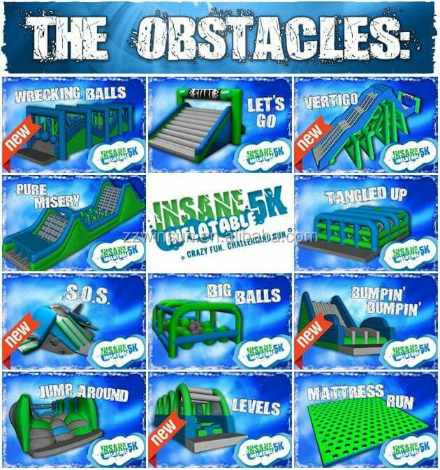 The Inflatable 5k obstacle run, The 5k Obstacle Course Race Series, 5k Inflatable Obstacle Course For Sale