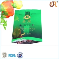 customized printed single serve pouch/brown kraft paper bags manufacture/three side seal safe food