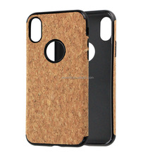 cork wood cover for Iphone 8,cork soft tpu cover for Iphone 8, tpu soft cover for iphone 8