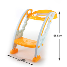 High quality folding plastic children stair potty baby toilet seat,plastic kids toilet seat