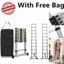 3.2M Aluminium Foldable Collapsible Retractable Telescoping Ladder With Free Bag