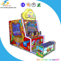 Double players ball shooting arcade game machine for Children