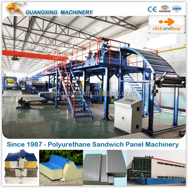 Production Line for Thermal Insulation Polyurethane Sandwich Panel