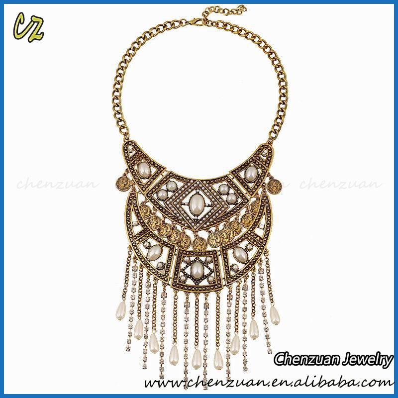 High quality long charm tassel necklace style gold tassel necklace vintage on sale.jpg