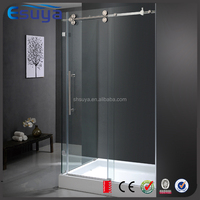 SUYA Chinese new year promote frameless sliding door tempered glass shower door, shower room cubicles