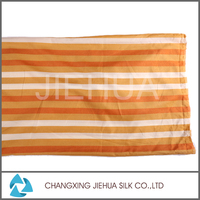100% Silk feeling polyester fabric with low price, rotary screen printing