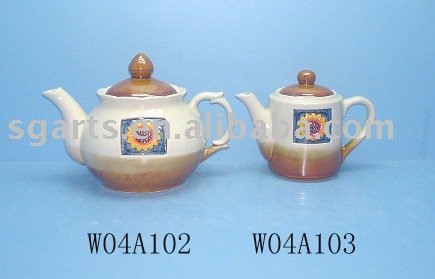 Ceramic Teapot dolomite painting design water coffee pot