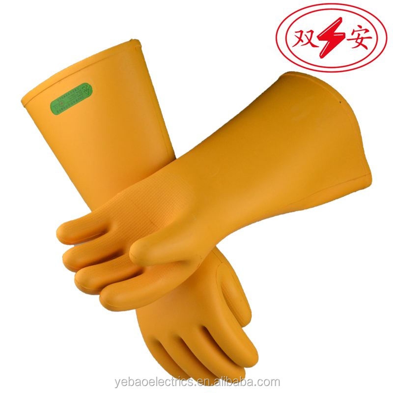 25KV Electric High Voltage Electric Rubber Thin Insulated Gloves