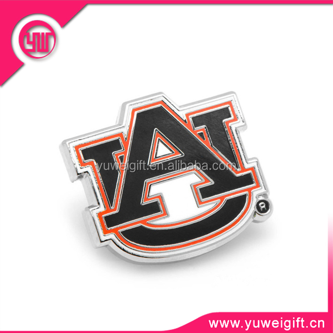 China factory made customized metal letter pin badge