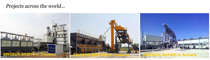 MAP800 mobile asphalt mixing plant price 64TPH