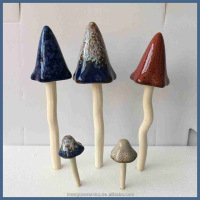 Garden decoration items wholesale ceramic toadstool ornament