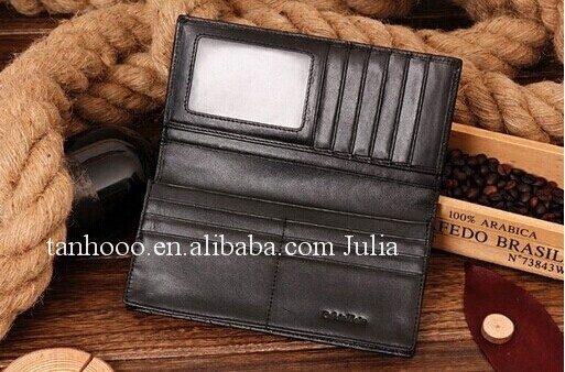 Large men leather wallet/purse/credit card insert