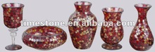 Red Mosaic Glass Craft