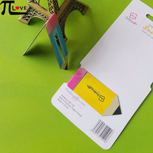 Stylish pencil shape design paper magnetic bookmarks