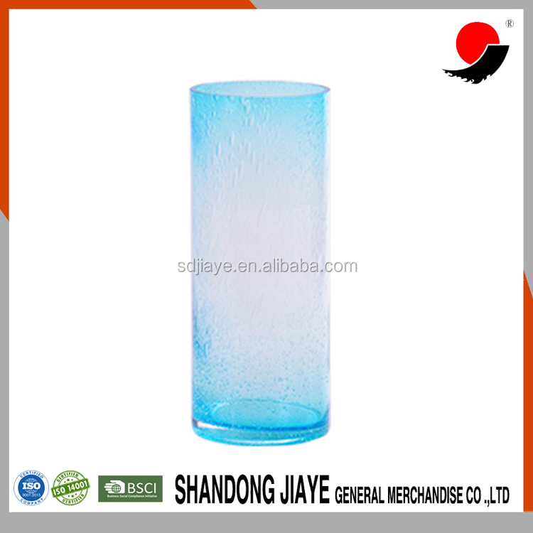 Giant Rattan Clear Glass Vase with Round Bottom