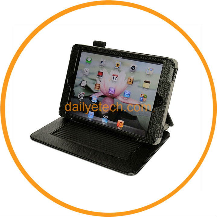 Magnetic Leather Folio Stand Case for iPad Mini from Dailyetech