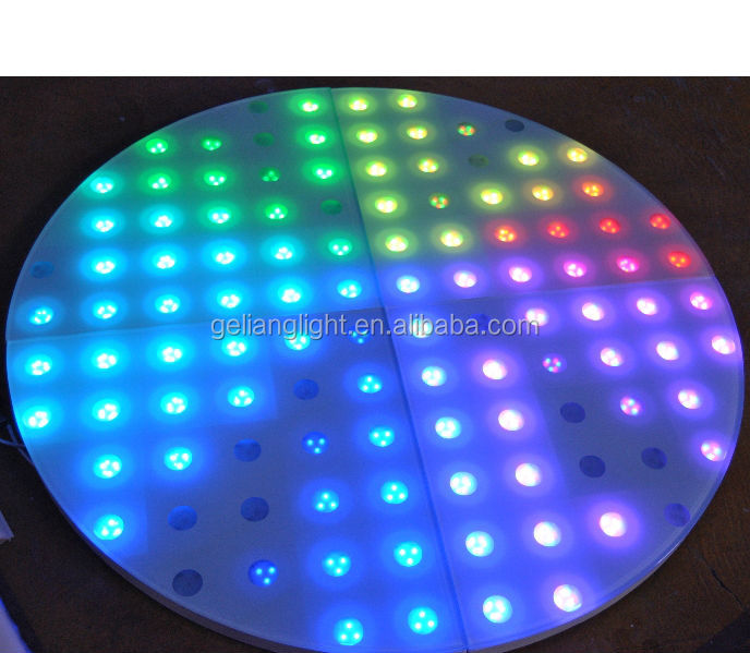 new design round sector shape white led disco dance floor