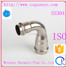 Stainless Steel Sanitary Pipe Fitting Reducer 90 Degree Elbow