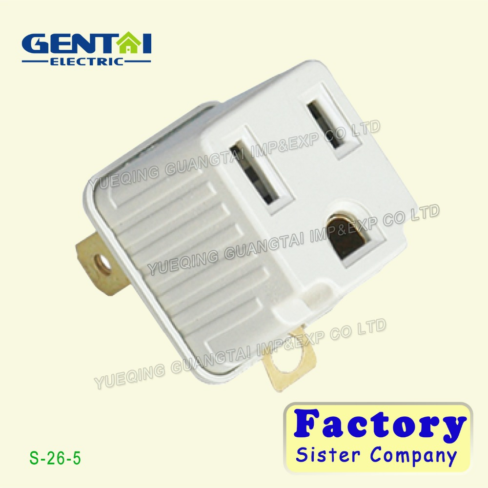 UL/CUL Ground outlet/current adapter/wall tap