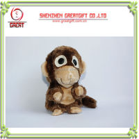 Stuffed sound voice recording Monkey plush stuffed animal lovely laying bear/plush snoring bear toy