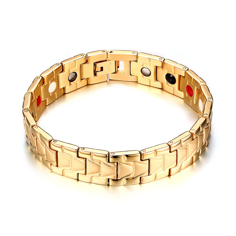 stainless steel magnetic mens solid gold bracelets new designs