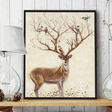 High-end Simple Oil Paintings On Canvas Framed Art With Deer