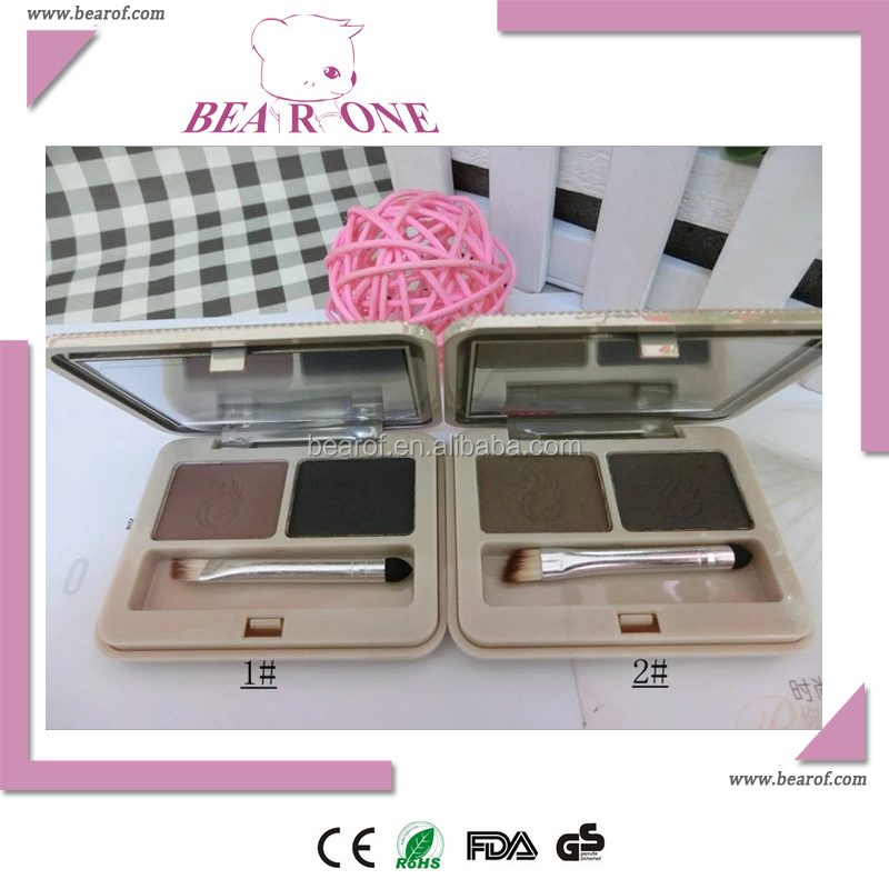 Brow powder with brush for eyebrow makeup kit
