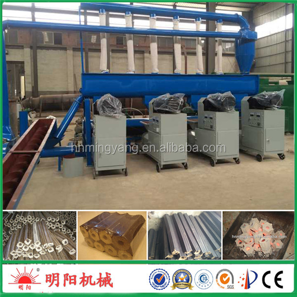 Factory sale wood sawdust briquettes machine/biomass charcoal rods making machine 08615039052280