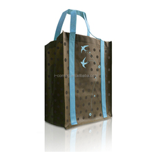 Sublimation printing pet non woven shopping bags with handle