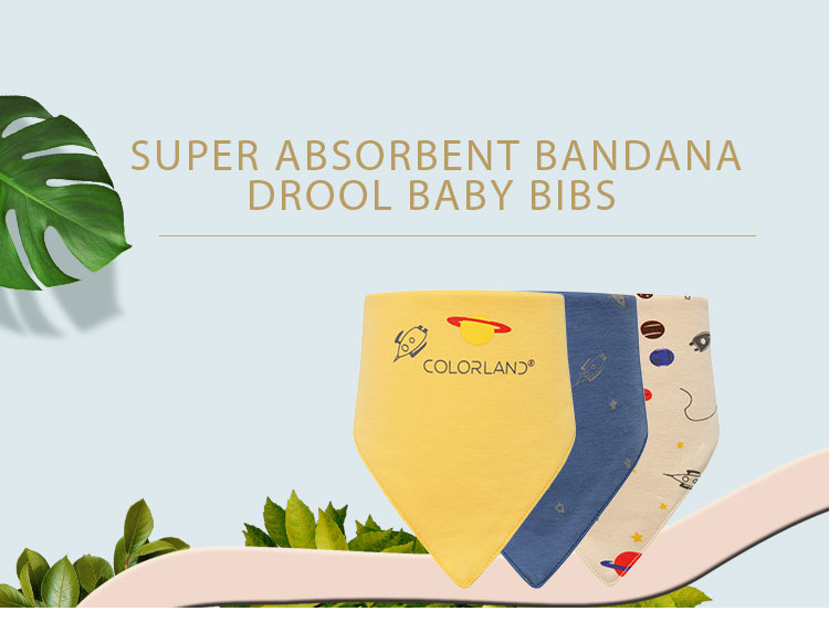 Super Comfortable Baby Bandana Bibs With Snaps For Girls & Boys