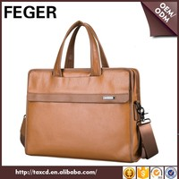 fashion laptop handbag cross body satchel bag genuine leather portfolio briefcases