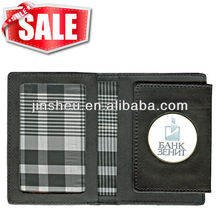 cheap custom leather credit card holder wallet