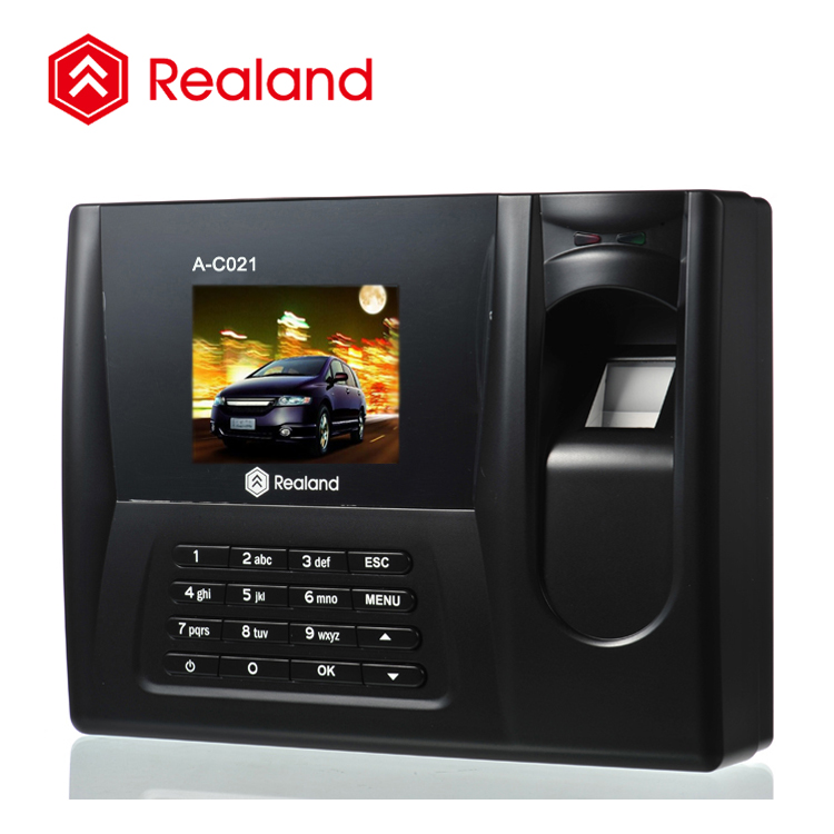 Realand A-C021 2.8 inch TFT how to reset fingerprint time attendance for office empolyee attendance