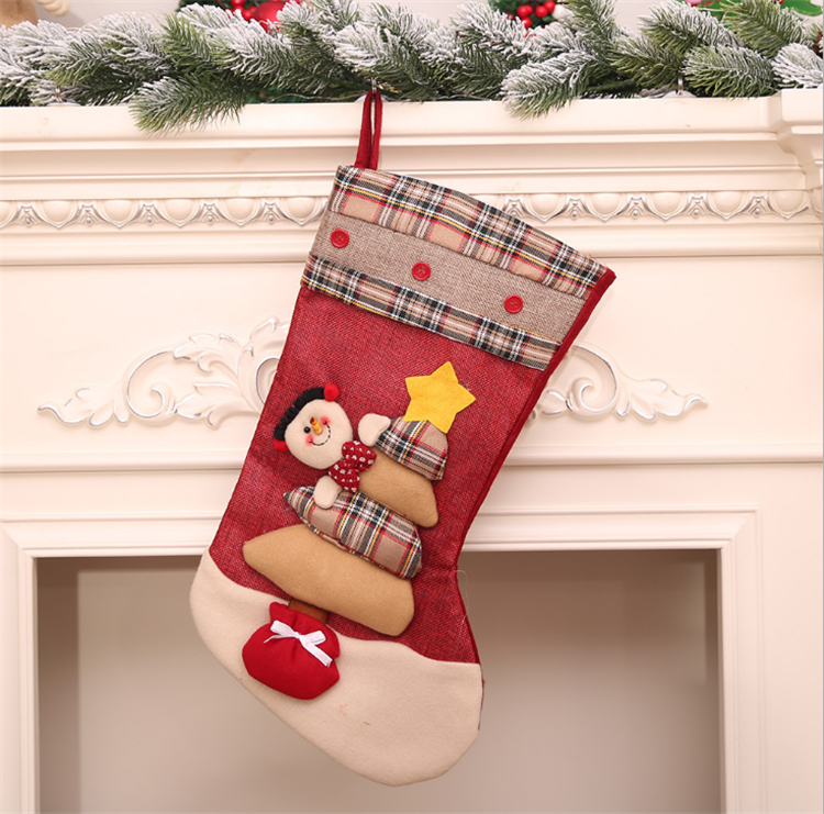 Wall fireplace ornament christmas craft christmas stocking