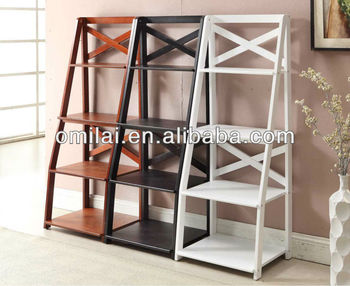 Chinese factory provide ecnomic bookshelf,ladder design