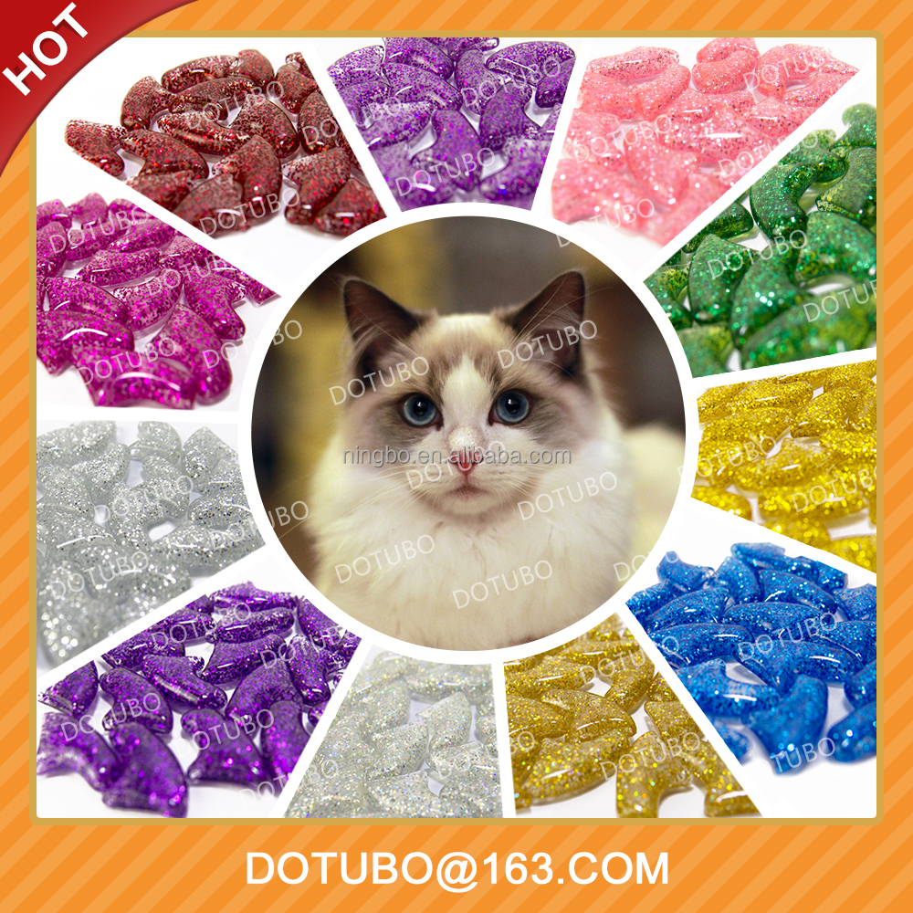 New sparkle Antiscratch Soft Cat Nail Caps Soft Claws Nail Cap Paw Caps Pet Nail Cover Claw Grooming