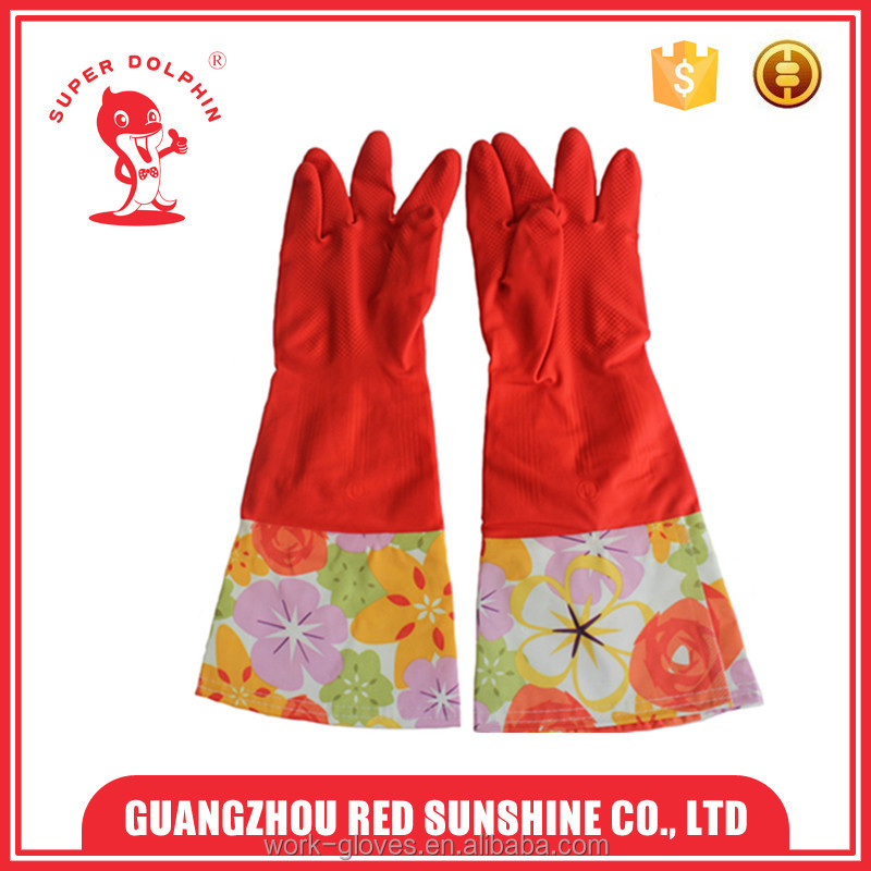 Long Sleeve Rubber Household Cleaning Gloves