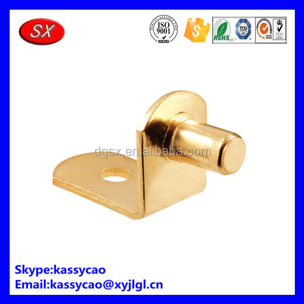 Custom brass/copper arm screw-in shelf support pin China Guandong made