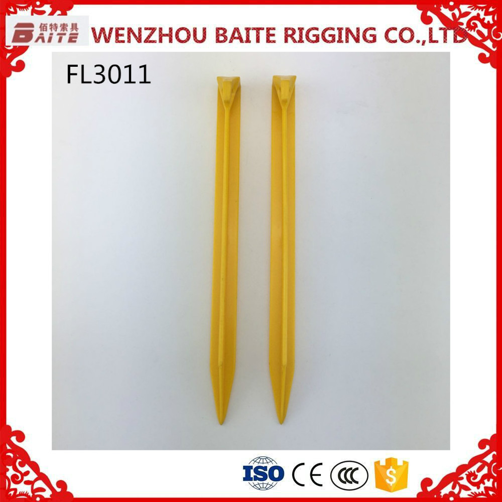 30cm Longer bold environmental plastic tent peg/flat nails