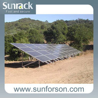 no welding solar rack/bracket , aluminum rails solar mounting with screws