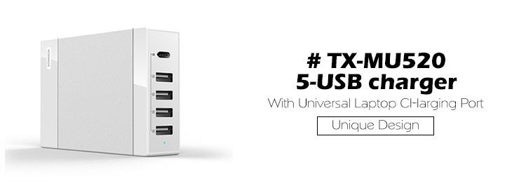 usb charger with type c port (PD) for macbook with US/EU power