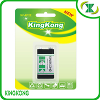 Super heavy duty 9v carbon zinc battery 6F22 Greenest High-grade quality
