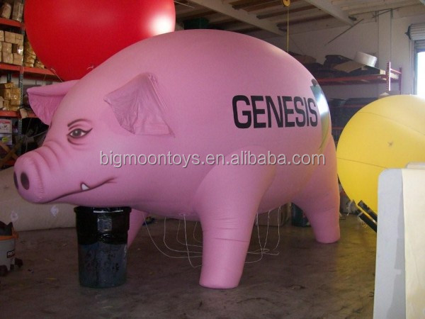 advertising inflatable giant helium flying pig cartoon balloon