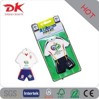 Sport football T-Shirt paper car air freshener/custom car air freshener
