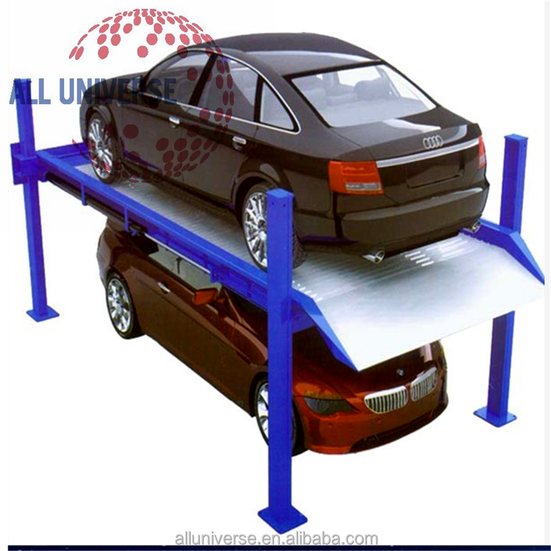 Double Car 2 Level Used Home Garage Car Parking Lift