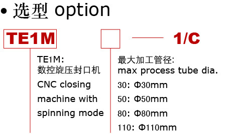 CNC tube end closing machine with spinning mode